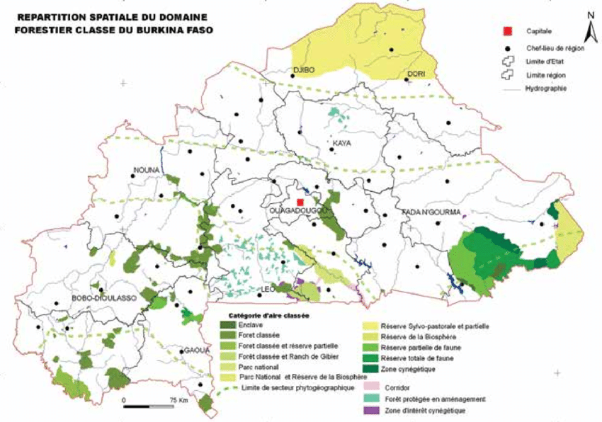 Spatial-distribution-of-Burkina-Faso-forest-reserve-estate-Source-MECV-2007a