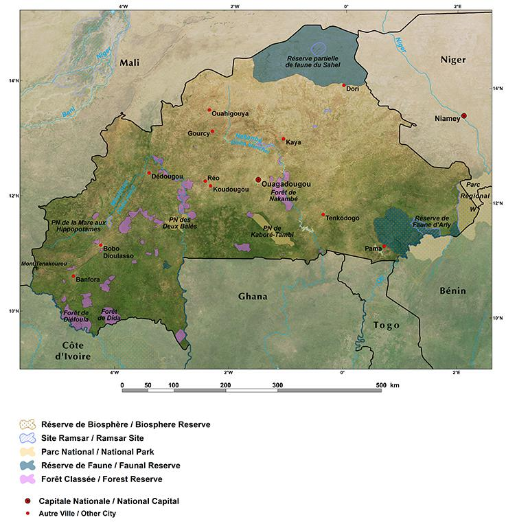 Burkina Faso: reserves and parks