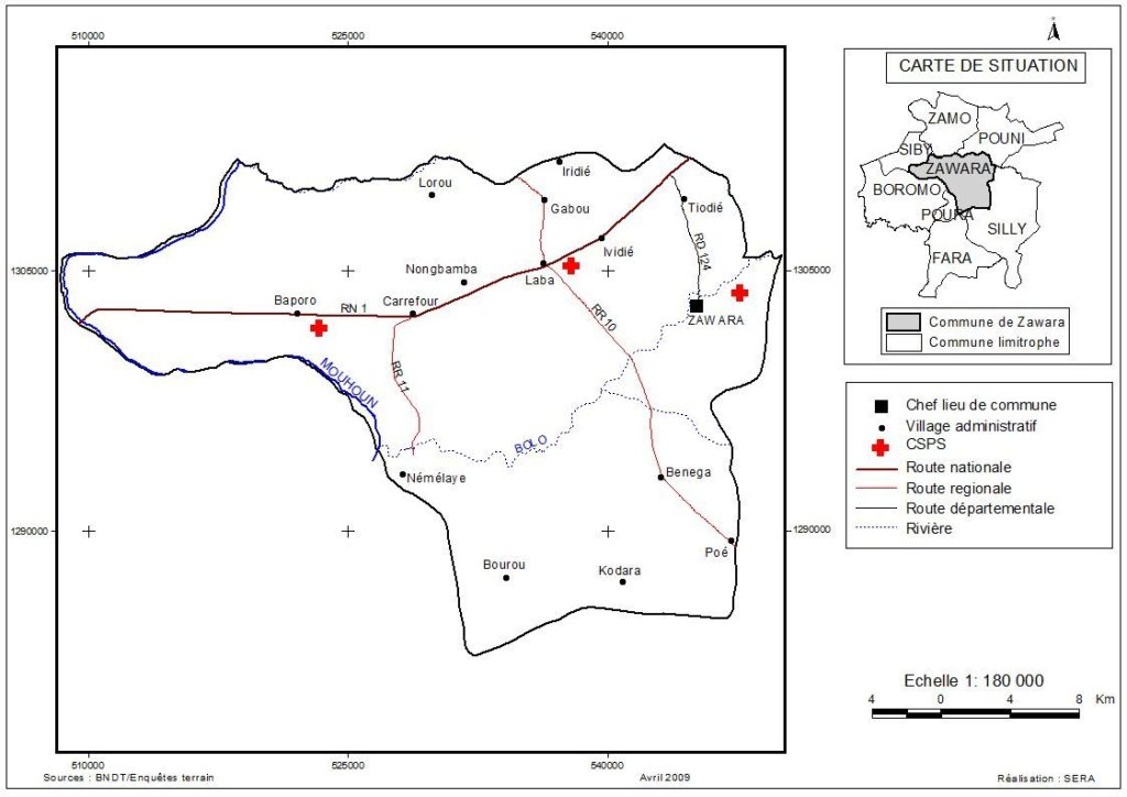Zawara-infrastrutture sanitarie